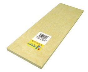 Birch Plywood, 3/8 x 4 x 12-Inch