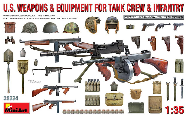 US Weapons and Equipment for Tank Crew and Infantry