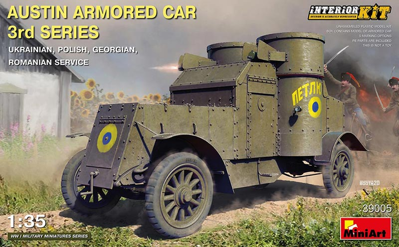 WWI Austin 3rd Series Armored Car w/Full Interior