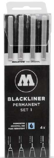 Blackliner Pen 4pc Set #1 (.05, .1, .2, .4)