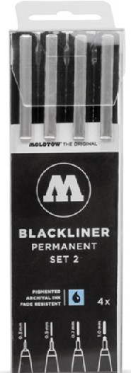 Blackliner Pen 4pc Set #2 (.3, .5, .7, 1)