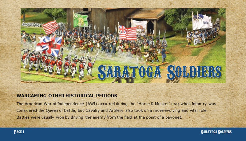 Saratoga Soldiers /Soldados de Alamo Supplement