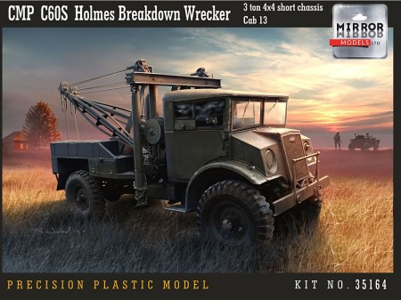 CMP C60S Cab 13 3-Ton 4x4 Short Chassis Holmes Breakdown Wrecker