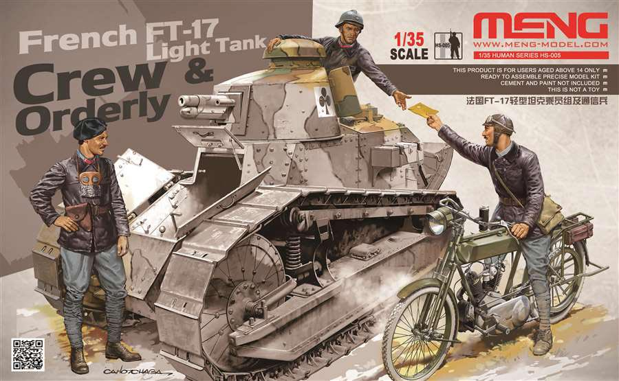 WWI French FT-17 Tank Crew and Orderly