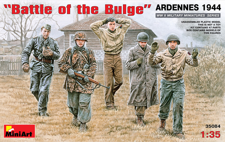 WWII Battle of the Bulge Soldiers, Ardennes 1944