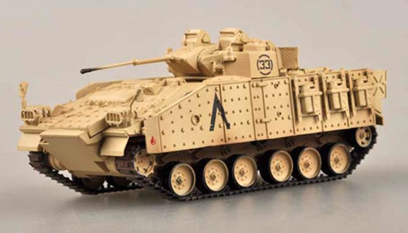 MVC 80 (Warrior) Tank 1st Bn Staffordshire Rgmt 7th Armored Brigade Iraq 1991 (Built-Up Plastic)