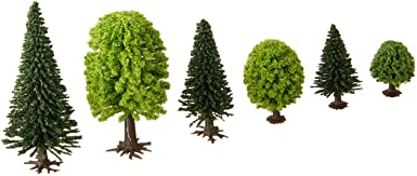 Mixed Forest Trees - 1-3/8 - 3-9/16in 3.5 9cm Tall