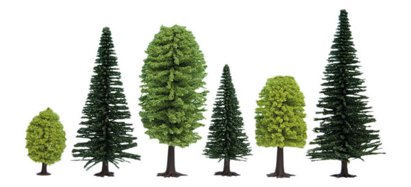 Mixed Forest Trees - 1-3/8 - 3-9/16in 3.5-9cm Tall