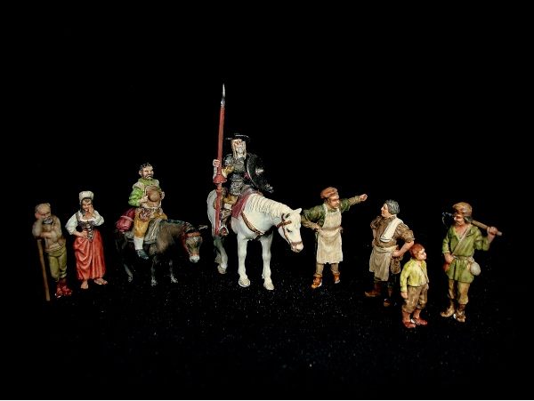 Don Quichotte & Sancho Panza with Peasants