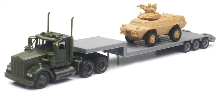 Kenworth Military Lowboy w/Armored Vehicle