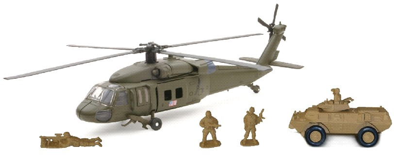 Sikorsky UH60 Black Hawk Helicopter Playset
