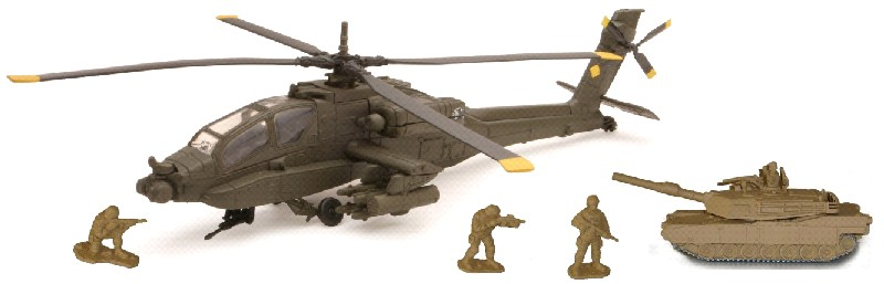 Apache AH64 Helicopter Playset