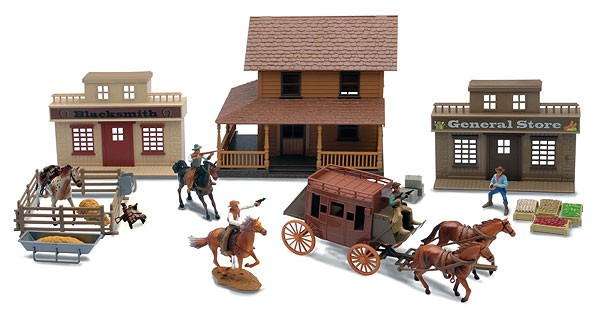 The Big Country Deluxe Western Town Playset