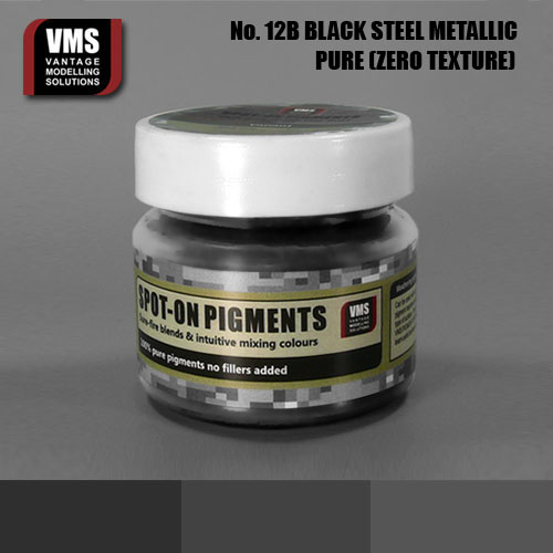 Spot-On Pigment - Black Steel Metallic Pure Pigment