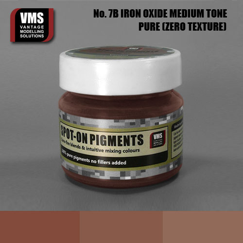 Spot-On Pigment- Dark Iron Oxide Old Rust Medium Tone Pure Pigment