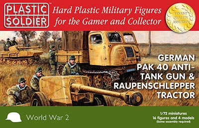 WWII German Pak 40 & Raupenschlepper
