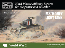 WWII British Stuart I Honey Light Tank (5) w/Crew