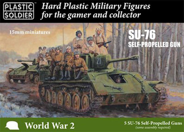 WWII Soviet Su76 Self-Propelled Gun & Crew