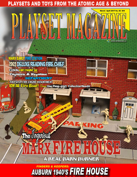 Playset Magazine Issue 92 Marx Fire House