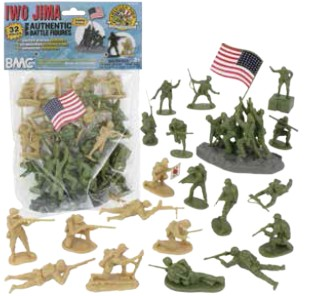 WWII Battle of Iwo Jima Bagged Figure Set Tan & Olive