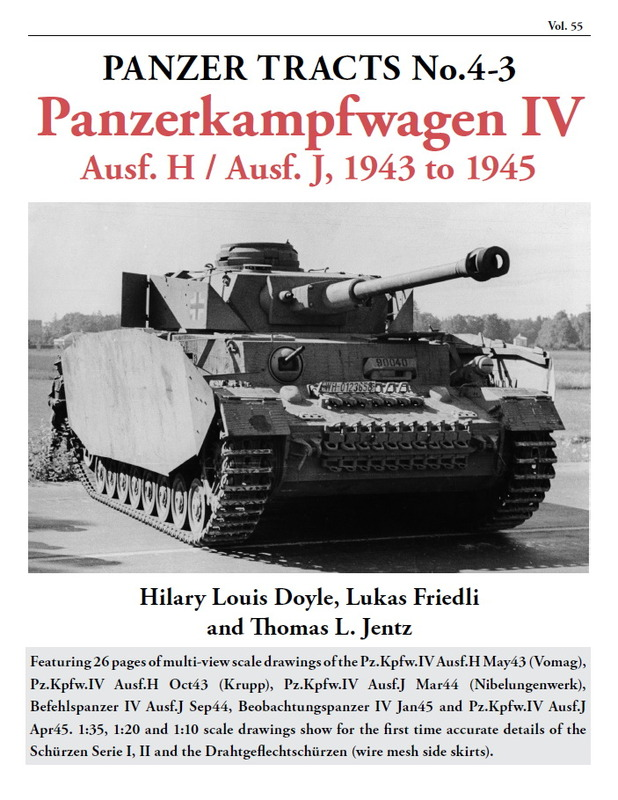 Panzer Tracts No.4-3 PzKpfw IV Ausf H & J 1943 to 1945