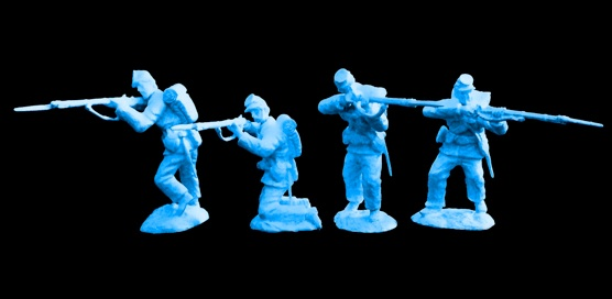 American Civil War Set #2 The Firing Line Federals w/ Swoppable Swivel Heads