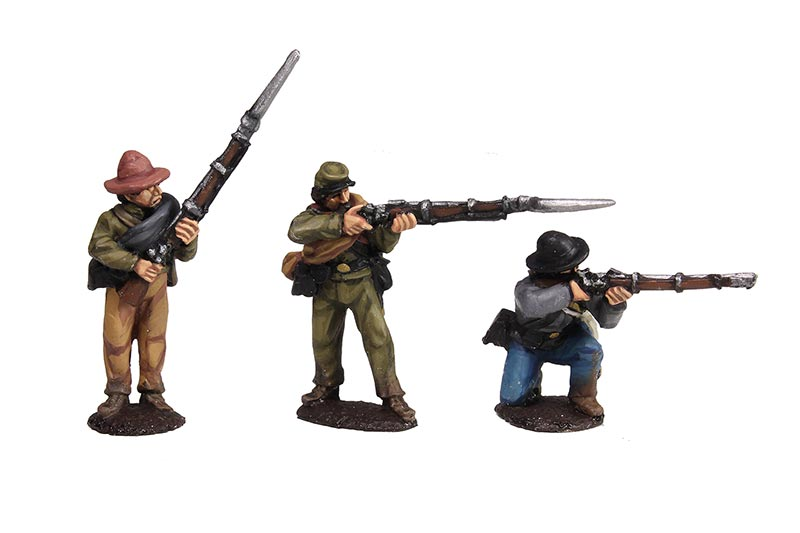 Confederate Infantry Firing Line Set #2