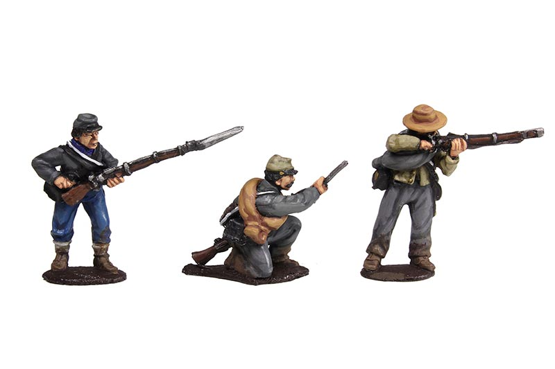 Confederate Infantry Firing Line Set #1