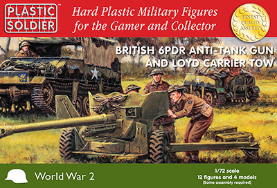 WWII British 6-Pdr Anti-Tank Gun w/Loyd Carrier Tow