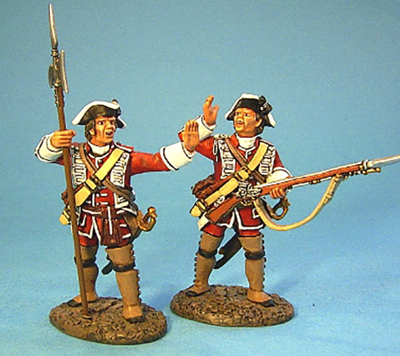 BATTLE ON THE PLAINS OF ABRAHAM 1759 - BRITISH OFFICERS #QB-09 - 1 AVAILABLE OOP