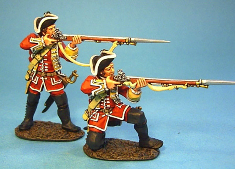 BATTLE ON THE PLAINS OF ABRAHAM 1759 - BRITISH LINE INFANTRY FIRING #QB-20 - 1 AVAILABLE OOP