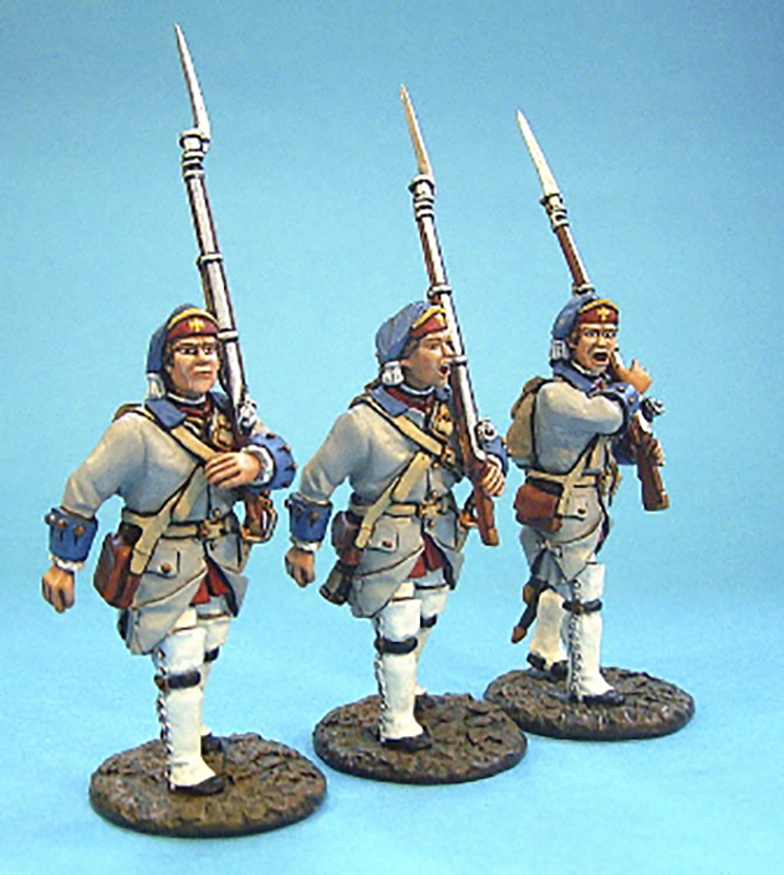 BATTLE ON THE PLAINS OF ABRAHAM 1759 - FRENCH LINE INFANTRY MARCHING #QF-06 - 1 AVAILABLE OOP