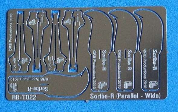 Scibe-R Parallel Wide Panel Scribing Tool w/4 Blades: 1.25, 1.5, 1.75, 2mm
