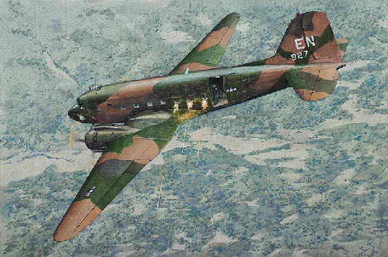 AC47D Spooky US Ground Attack Aircraft