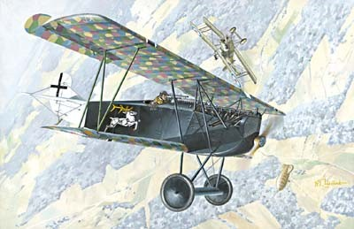 Fokker D VIIF Alb (Early) WWI German Biplane Fighter
