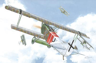Fokker D VIIF Alb (Late) WWI German Biplane Fighter
