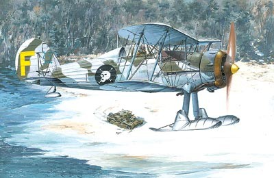 Gloster Gladiator Mk II BiPlane Fighter w/Skis