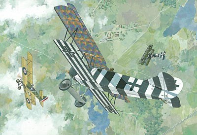 Fokker D VII (Early) WWI German BiPlane Fighter