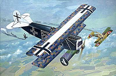 Fokker D VII (OAW Built Mid) German BiPlane Fighter