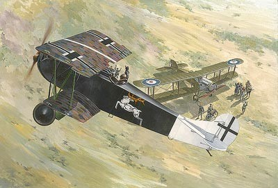 Fokker D VII (ALB Early) WWI German BiPlane Fighter