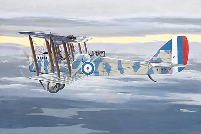 DeHavilland DH4 British BiPlane Recon/Interceptor w/RAF 3a Engine