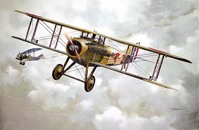 Spad VII CI Early WWI Main French BiPlane Fighter