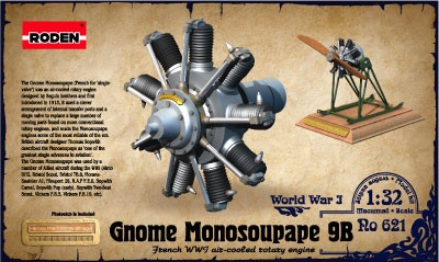 Gnome Monosoupape 9B WWI Air-Cooled Rotary Aircraft Engine