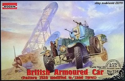 Pattern 1920 Modified WWII British Armored Car w/Sand Tires