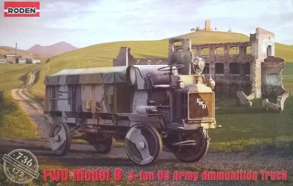 FWD Model B 3-Ton US Amy Ammunition Truck w/Canvas-Type Cover