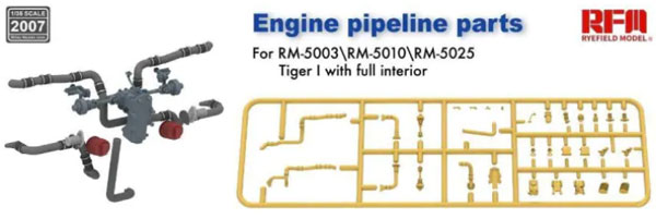Tiger I Engine Pipeline/Exhaust Parts