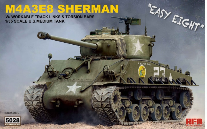 M4A3E8 Sherman Easy Eight with Workable Track Links & Torsion Bars