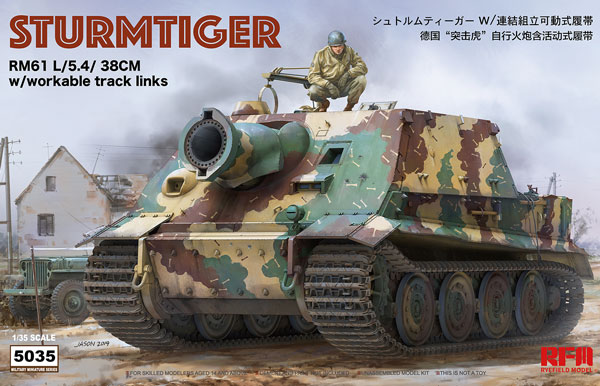 Sturmtiger RM61 L/5.4/38cm with Workable Track Links
