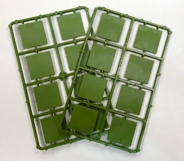 Renedra 30mm Square Plastic Bases