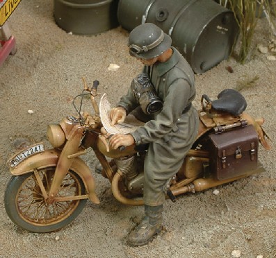 WWII DKM German Motorcycle Rider